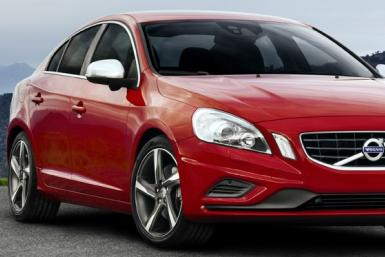 A parked 2012 Volvo S60.