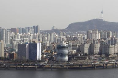 A general view shows part of central Seoul