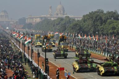 Indian Army's T-72 Ajeya tanks take part in the Republic Day parade in New Delhi