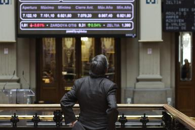Trader at the Bolsa de Madrid