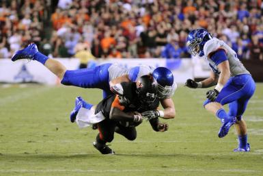 Boise State's Shea McClellin could be the impact player the Pats need to rush the passer.