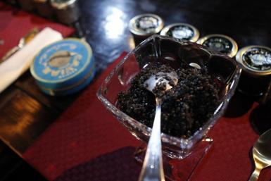 Russian Caviar Eating Contest