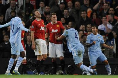 Watch highlights of the all-important Manchester derby at the Etihad.
