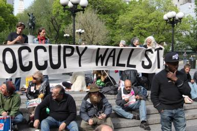 Occupy Wall Street demonstrators in Union Square