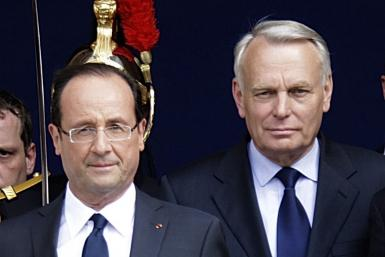 Hollande (left) and Ayrault