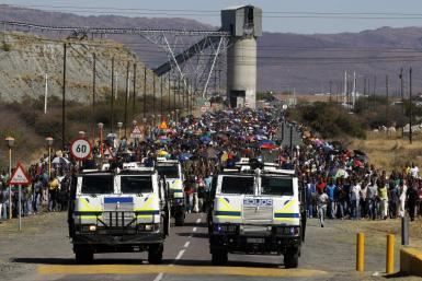South African mine strikes