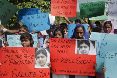 Malala supporters Oct 2012