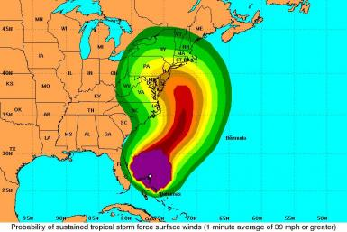 Hurricane Sandy Projected Path