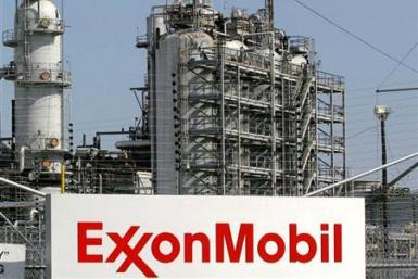 A view of the Exxon Mobil refinery in Baytown, Texas.