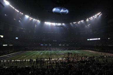 Superdome In Partial Darkness