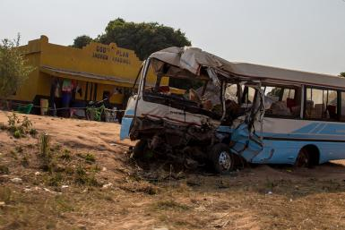 Aftermath of another traffic accident in Zambia