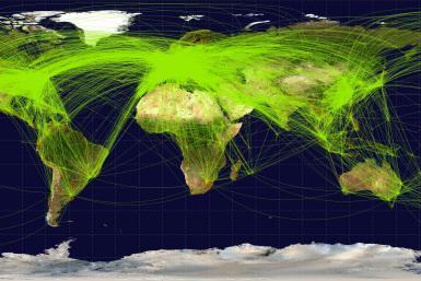 Global Air Travel Map