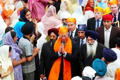 Prince Charles at Sikh Temple in West London