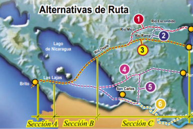 Nicaragua canal plans