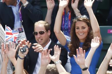 Kate and William At A Game