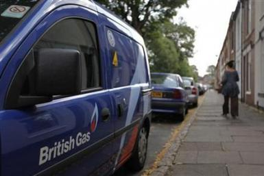 British Gas (Centrica) truck in UK