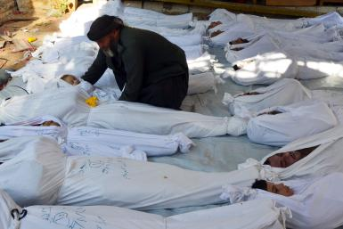 syria casualties gas attack bodies