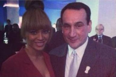 Coach K 'Madly In Love' With Beyonce
