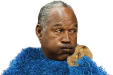Cookie Monster OJ Simpson