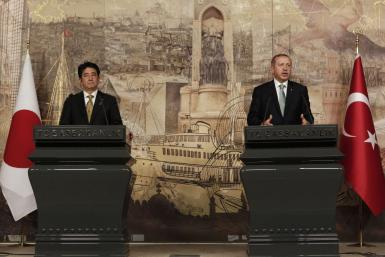 Erdogan and Abe Shinzo