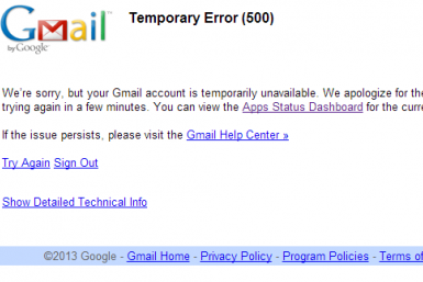 Gmail Down Temporary Error 500