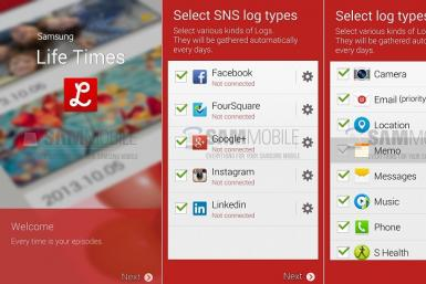 The recently leaked Samsung Life Times app
