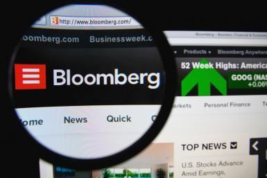 Bloomberg web site by Shutterstock