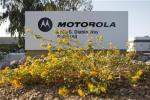 Signage for Motorola is displayed outside their office building in Tempe, Arizona