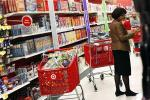 A woman shops at a Target store in New York