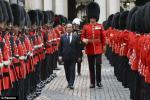 Francois Hollande and Coldstream Guards