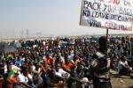Striking Lonmin workers in South Africa
