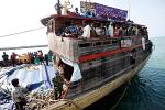 Sri Lankan asylum seekers on boat