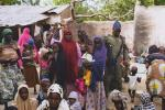 Nigerian army with rescued women