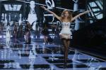 [8:44] A model presents a creation at the 2014 Victoria's Secret Fashion Show in London