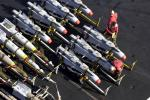 US Navy missiles, laser-guided bombs