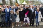 King Willem-Alexander and Queen Maxima of the Netherlands pose with their children, Princess Ariane, Princess Alexia and Princess Catharina-Amalia
