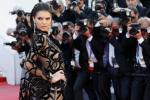 Model Kendall Jenner in a Roberto Cavalli Couture Gown