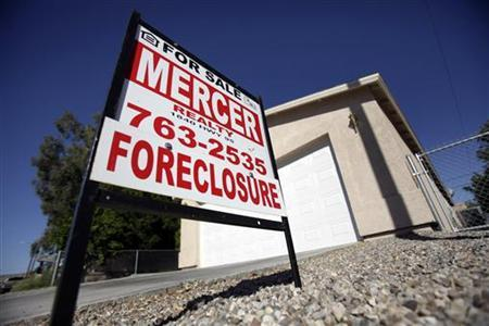 A foreclosed home is seen in Bullhead City