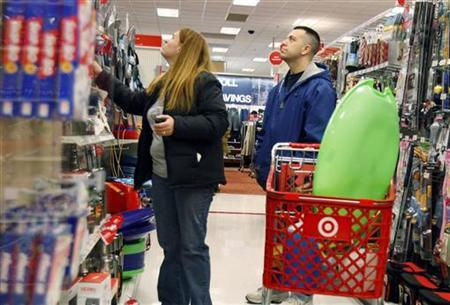 File image of people shopping at Target store in New York