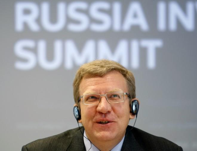 Russian Finance Minister Alexei Kudrin talks to Reuters in Moscow