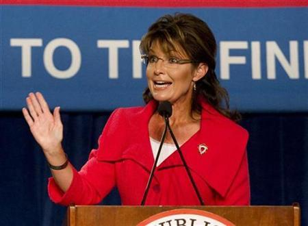 Former Alaska governor Sarah Palin speaks during the Republican 2010 Victory Fundraising Rally in Orlando, Florida