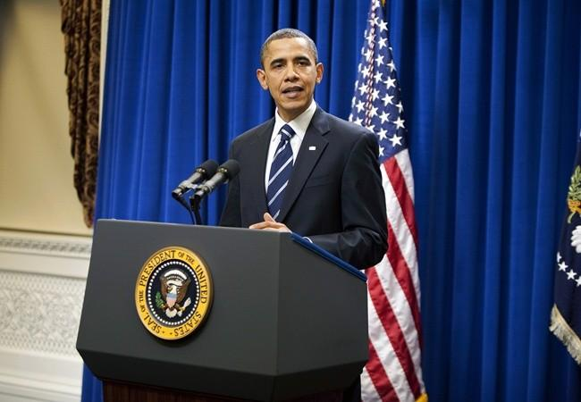 U.S. President Barack Obama makes a statement on tax cuts and unemployment insurance at the White House in Washington December 6, 2010.