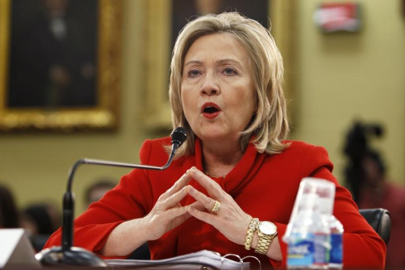 U.S. Secretary of State Hillary Clinton testifies before the House Appropriations Committee on Capitol Hill in Washington