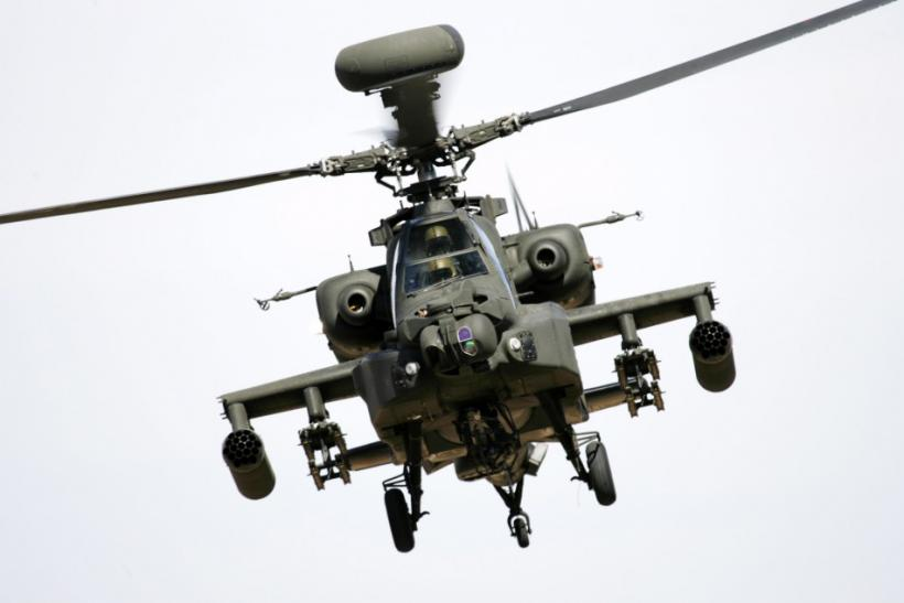 File photo of an Apache WAH64D helicopter taking part in Exercise Crimson Eagle in the Arizona desert.
