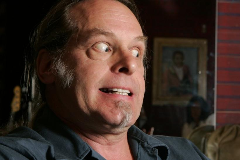 Nugent reacts during an interview before a concert at the House of Blues at the Mandalay Bay Resort in Las Vegas