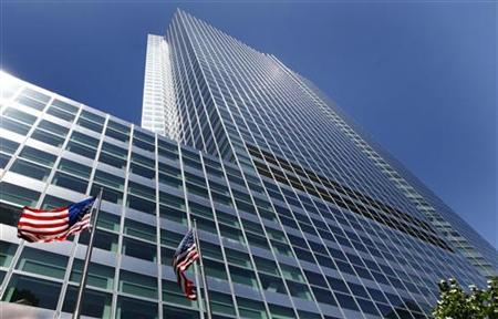 The Goldman Sachs building at 200 West Street is seen in New York