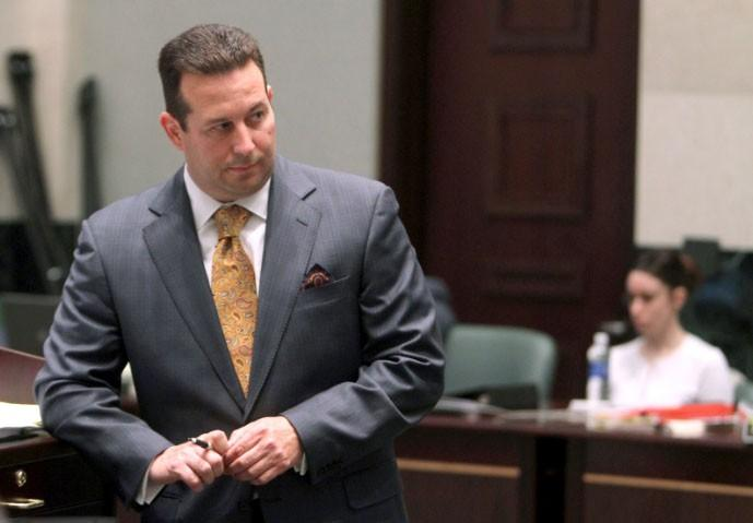 Lead defense attorney Jose Baez starts his defense of Casey Anthony during day 20 of her 1st -degree murder trial at the Orange County Courthouse, in Orlando, Florida, June 16, 2011