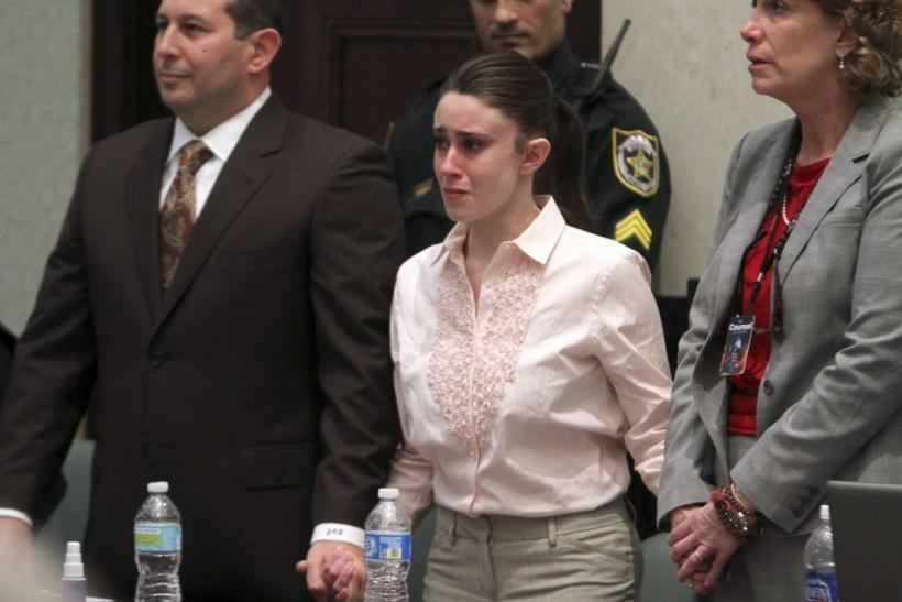 Casey Anthony reacts to being found not guilty