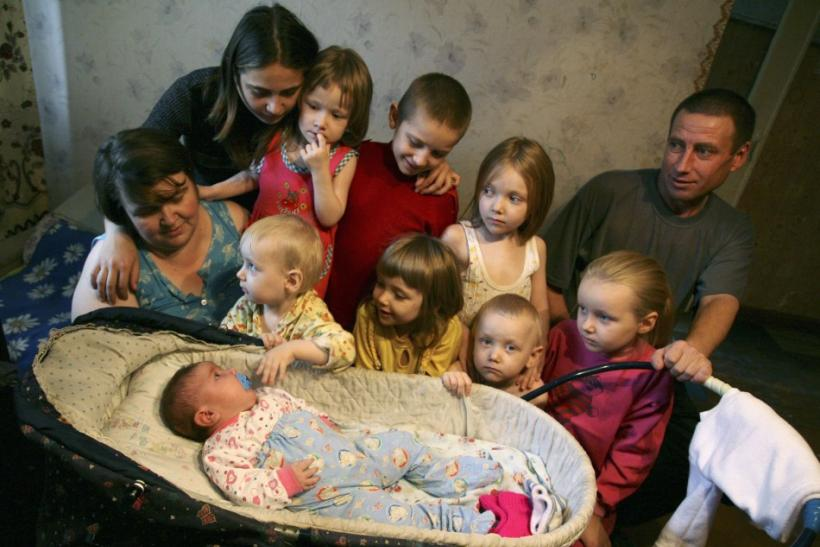 Baby Nadia, also said to be the biggest baby, in Siberia.