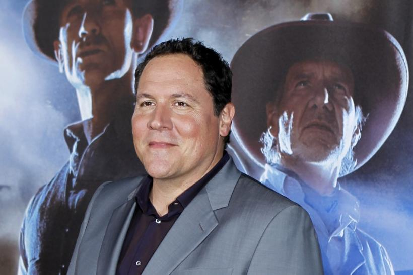 """Director Jon Favreau arrives for the world premiere of the movie """"Cowboys & Aliens in conjunction with Comic Con in San Diego"""